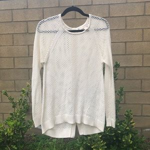 MICHAEL Michael Kors Button Back open knit sweater